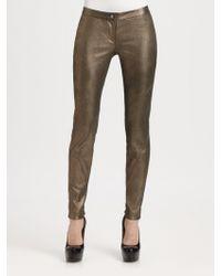 Haute Hippie Metallic Stretch Leather Pants - Lyst