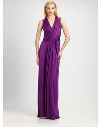 Issa Silk Jersey Wrap Gown - Lyst