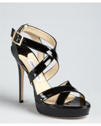 Jimmy Choo Patent Leather Vamp Sandals amazon sale online cheap looking for 100% original cheap online OXHrQWaWl