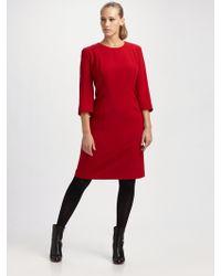 Lafayette 148 New York, Salon Z Wool Crepe Sheath Dress - Lyst