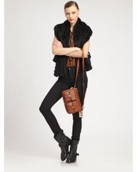 Marc By Marc Jacobs Alice Rabbit Fur Vest - Lyst