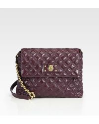Marc Jacobs Lacquered Quilting Xl Single Bag - Lyst