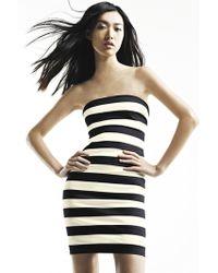 Robert Rodriguez | Strapless Stripe Dress | Lyst
