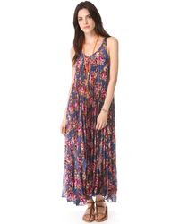Zimmermann Pleated Cover Up Maxi Dress - Lyst