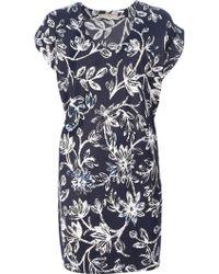 Balenciaga Floral Print Robe - Lyst