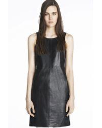J Brand Lena Leather Dress - Lyst