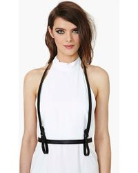 Nasty Gal - Harness Belt Black - Lyst