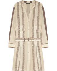 Belstaff Madison Striped Silk Crepe De Chine Dress - Lyst