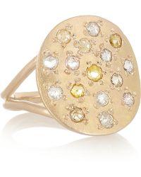 Brooke Gregson - 18karat Rose Gold Diamond Ring - Lyst