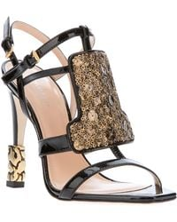 CALVIN KLEIN 205W39NYC - Sequin Panel Sandal - Lyst