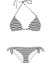 Dolce & Gabbana Striped Triangle Bikini - Lyst