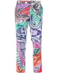 Etro Printed Trouser multicolor - Lyst