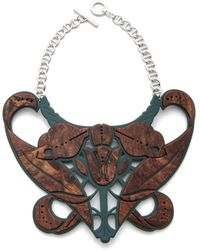 Carven - Plexi Bib Necklace - Lyst