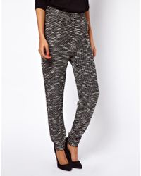 ASOS Collection Peg Trouser in Textured Fabric - Lyst