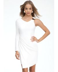 Bebe Asymmetric Faux Wrap Dress Online Exclusive - Lyst