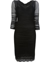 Dolce & Gabbana Vneck Dress - Lyst