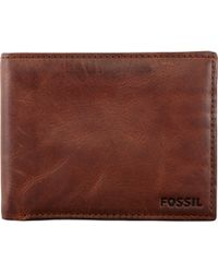 Fossil - Carson Leather Wallet - Lyst