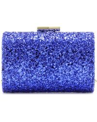Jimmy Choo Mini Tube Glitter Clutch - Lyst