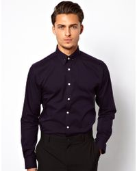 Lambretta - Shirt with Collar Bar - Lyst