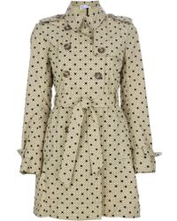 RED Valentino Spotty Trench Coat - Lyst