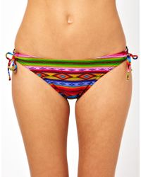 ASOS Collection Blanket Print Loopside Bikini Pant - Lyst