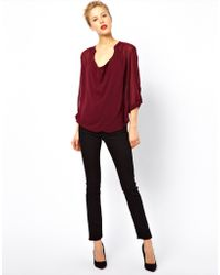 ASOS Collection Asos Blouse with Detail Front and Drop Neck - Lyst