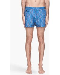 Marc By Marc Jacobs - Vivid Blue and Cora Lstriped Simon Swim Shorts - Lyst