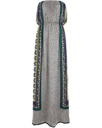 MSGM Printed Silk Maxi Dress - Lyst