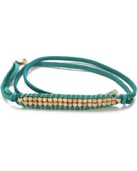 Shashi - Nugget Leather Wrap Bracelet - Lyst