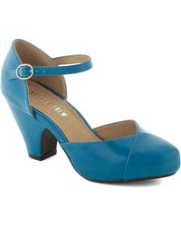 ModCloth Fashionable Focus Heel in Peacock - Lyst