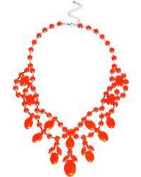 ASOS - Asos Premium Jewelled Bib Necklace - Lyst