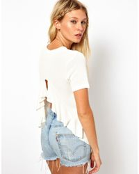 ASOS Collection | Top with Ruffle Back | Lyst
