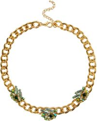 ASOS - Gemstone Necklace On Curb Chain - Lyst