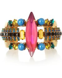 Erickson Beamon Aquarela Do Brasil Goldplated Swarovski Crystal Cuff - Lyst