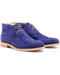 Tod's No_Code Suede Desert Boots - Lyst