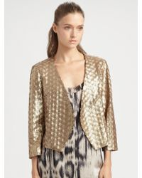 Addison - Cropped Sequin Jacket - Lyst