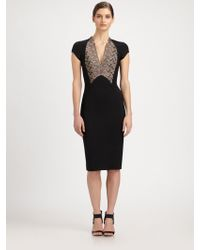 Antonio Berardi Capsleeve Pencil Dress - Lyst