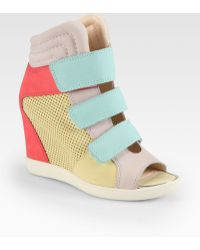Boutique 9 - Nerine Leather Wedge Sneakers - Lyst