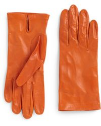 Costume National Vented Leather Gloves - Lyst