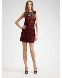D&G Lace Overlay Dress - Lyst