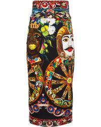 Dolce & Gabbana Printed Skirt multicolor - Lyst