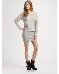 Duffy - Sheer Thermal Sleeve Sweater Dress - Lyst