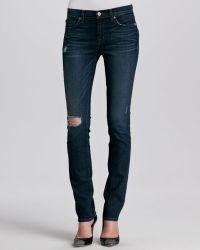 J Brand Midrise Distressed Slim Jeans - Lyst