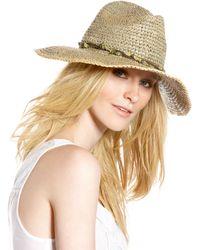 Michael Stars - Beaded Raffia Hat - Lyst