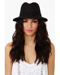 Nasty Gal Panama Hat Black - Lyst
