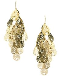 Oasis Filigree Cascade Earrings - Lyst