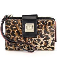 Olivia Harris | Leopardprint Haicalf Tech Wallet | Lyst