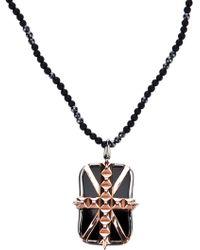 Stephen Webster - Black Rhodium Silver Union Jack Pendant Necklace - Lyst