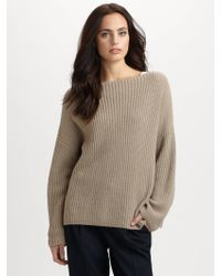 Vince Ribbed Boatneck Sweater - Lyst