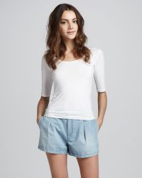 7 For All Mankind Lightweight Pleated Shorts - Lyst